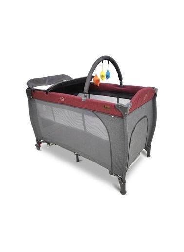 BabyHope Nova 60*120 Cm Bebek Oyun Parkı Park Yatak 1040 Kırmızı